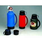 plastic glass vacuum flask